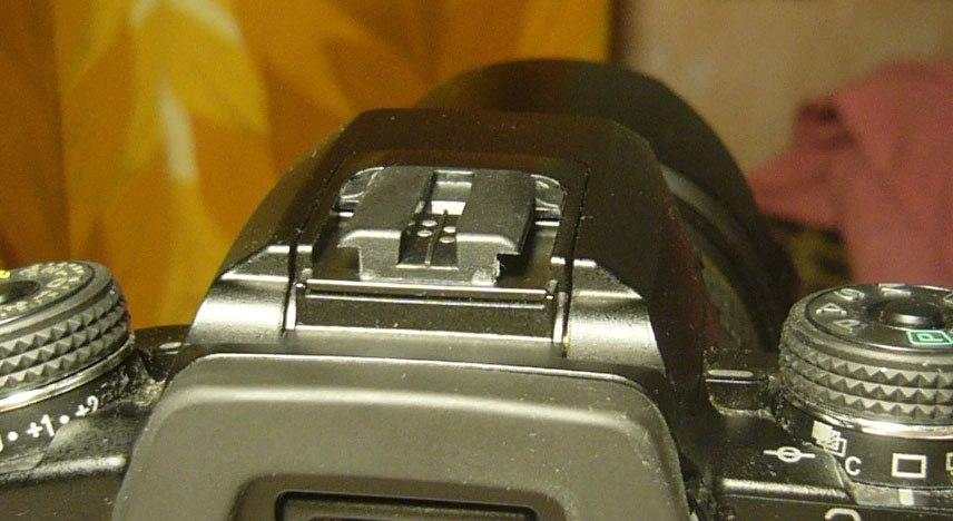 Konica Minolta Dynax 7D hot shoe