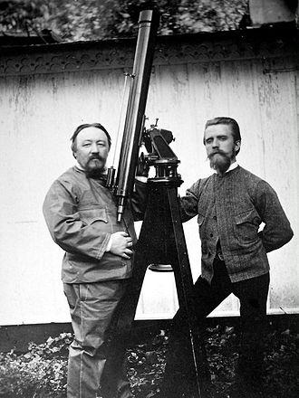 Hermann Kobold - Miklós Konkoly-Thege and Hermann Kobold.