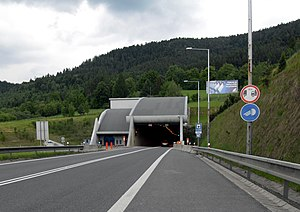 Branisko Tunnel - Western portal of the tunnel
