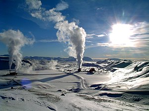 Geothermal power - Image: Krafla geothermal power station wiki