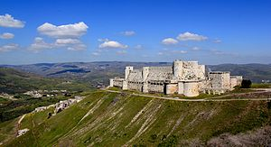 Krak des Chevaliers - Krak des Chevaliers overlooking the surrounding area.