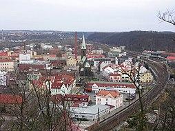 Kralupy nad Vltavou, pohled z Hostibejku