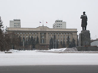 Krasnoyarsk Krai - The seat of the oblast administration in the Revolution Square, 2005