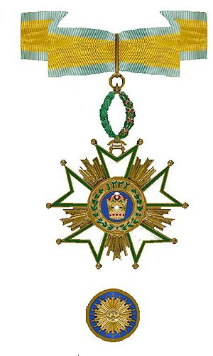 Order of the Crown (Iran) - Image: Kroonorde van Perzië, Commandeur 1970