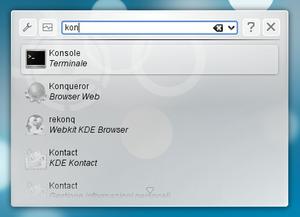 KDE Plasma 4 - KRunner in Plasma Desktop 4.3