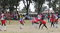 Kwanthanze girls defend their goal as their opponents try to score against them during school games.jpg