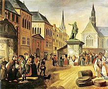 Aufhebung der Klöster in den Österreichischen Niederlanden (Léonard Defrance). (Quelle: Wikimedia)