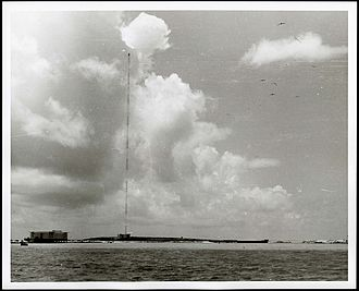 LORAN - LORAN tower station on Sand Island in Johnston Atoll, 1963