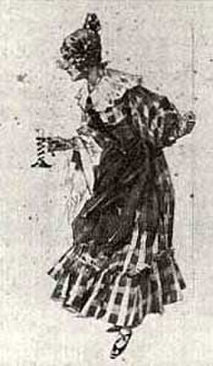 Grisette (person) - Mimì's costume for La bohème (Act I) designed by Hohenstein