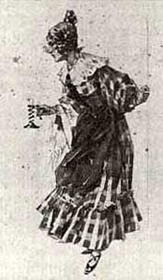 La bohème - Mimì's costume for act 1 of La bohème designed by Adolfo Hohenstein for the world premiere