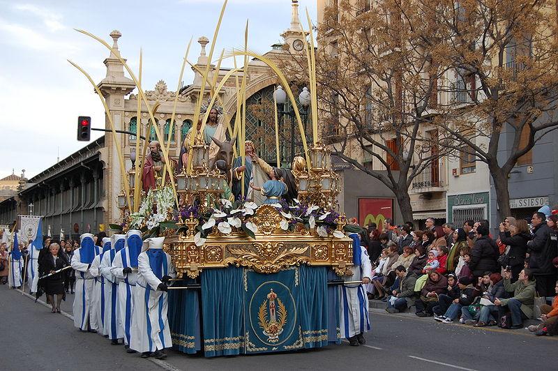 Imachen:La Entrada de Jesús en Jerusalén (Semana Santa de Zaragoza, Aragón).jpg