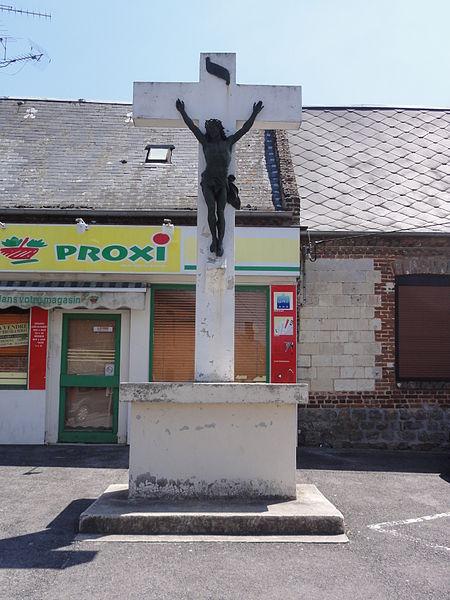 La Ferté-Chevresis (Aisne) croix de chemin