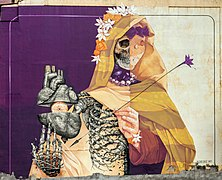 La Madone de São Paulo painting by Alexis Diaz and INTI in São Paulo downtown.jpg