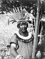 Lago rojo Aguado, NÖ. Bolivia. Annan bröstbild av indianen i foto 005000 - SMVK - 005003.tif