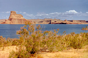 Gravity (2013 film) - The landing scene was filmed at Lake Powell, Arizona.