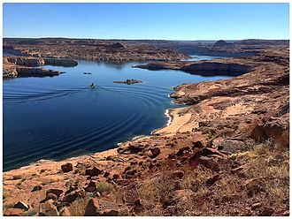 Lake Powell - The southwestern portion of Lake Powell in Arizona