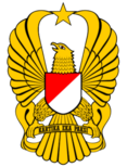 National emblem of Indonesia, Indonesian National Police, Indonesian Air Force and Indonesian Army mottos are Bhinneka Tunggal Ika, Rastra Sewakottama, Swa Bhuwana Paksa, Kartika Eka Paksi, all in Sanskrit language.