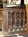 Lamorlaye (60), église Saint-Nicolas, clôture de chœur en bois.JPG