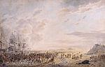 Débarquement des troupes britanniques à Callantsoog.