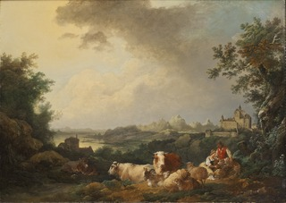 Landscape with Resting Cattle
