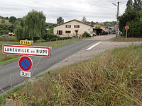 Laneuville-au-Rupt (Meuse) city limit sign.jpg