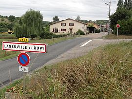 Laneuville-au-Rupt (Meuse) city limit sign.jpg