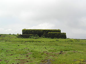 Visapur Fort - Image: Last building standing