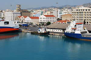 The port of Patras.