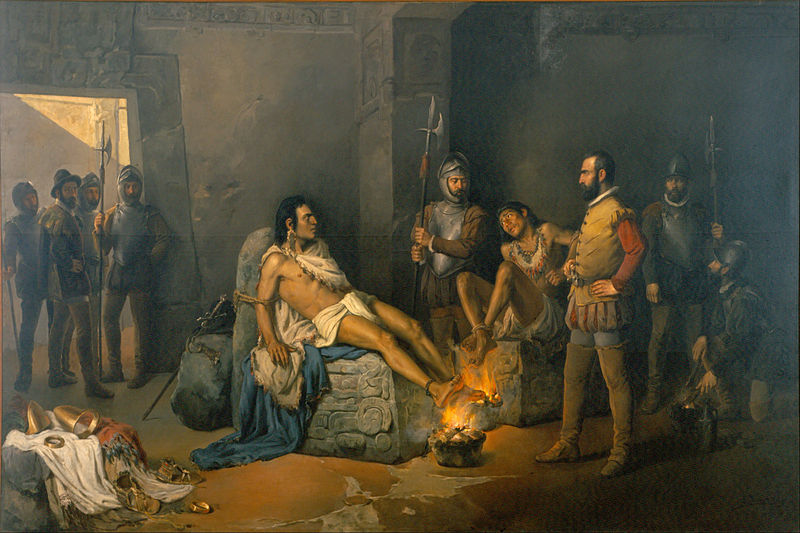 File:Leandro Izaguirre - The Torture of Cuauhtémoc - Google Art Project.jpg