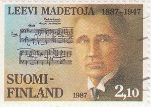 Postage stamps and postal history of Finland - Commemorative honoring Leevi Madetoja, 1987