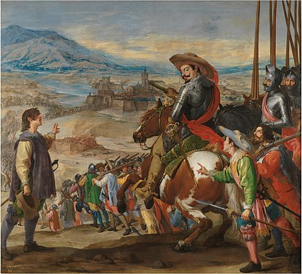 The Spanish relief of Breisach by the Duke of Feria in 1633 Leonardo-socorro de brisach.jpg