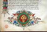 Leonardo bruni, epistole, firenze, 1425-1500 ca. (bml, pluteo52.6) 09 stemma medici.jpg