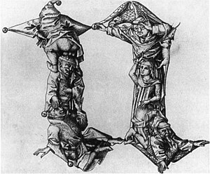 Master E. S. - Letter N of the Fantastic Alphabet, Master E. S., c. 1465