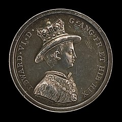 Edward VI, 1537-1553, King of England 1547 (Medal for the School of Christ's Hospital, Founded 1552) [obverse]