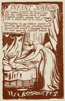 Life of William Blake (1880), Volume 2, Songs of Experience - Infant Sorrow.png