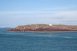 Lighthouse on Quarry Point, Skokholm Island - geograph.org.uk - 250634.jpg