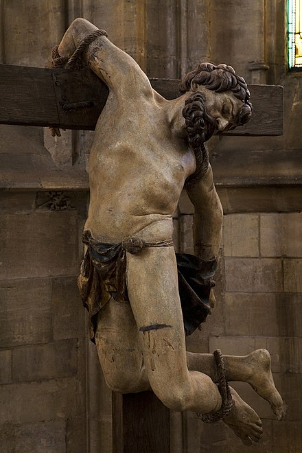 Detail from calvary in church of Saint-Etienne in Bar-le-Duc.Photograph shown courtesy Clement Guillaume, all rights reserved Ligier Richier Calvary 2.jpg