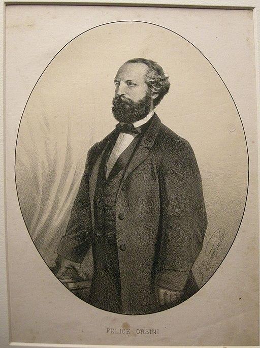 Litografia ballagny, fine XIX sec. felice orsini