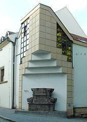 Socha svatého Františka Xaverského - podstavec
