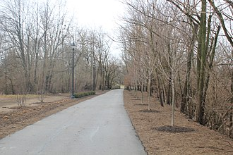 Xenia, Ohio - A portion of the Little Miami Scenic Trail in Xenia