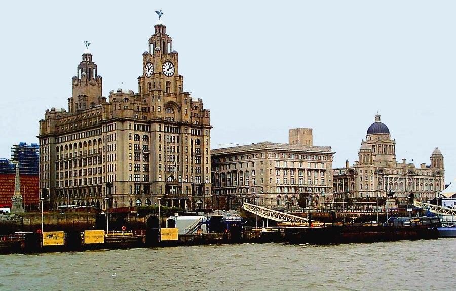 Liverpool skyline, closeup