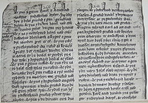 Rhys ap Tewdwr - Part of the Welsh version of Brut y Tywysogion found in the Red Book of Hergest