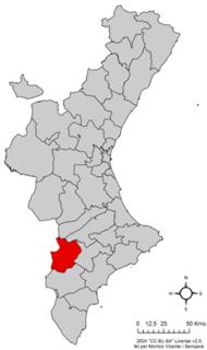 Alto Vinalopó Comarca in Valencian Community, Spain