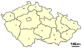 Location of Czech city Hustopece.png