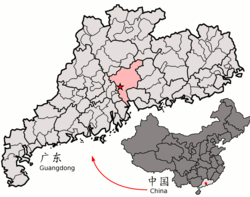 Location within China