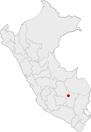 Location of the city of Cusco in Peru.png