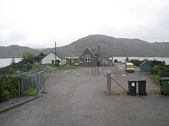 Lochinver - Image: Lochinver Primary school with Loch Culag behind geograph.org.uk 1448465