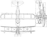Loening C-1W Amphibian 3-view Aero Digest April 1928.png