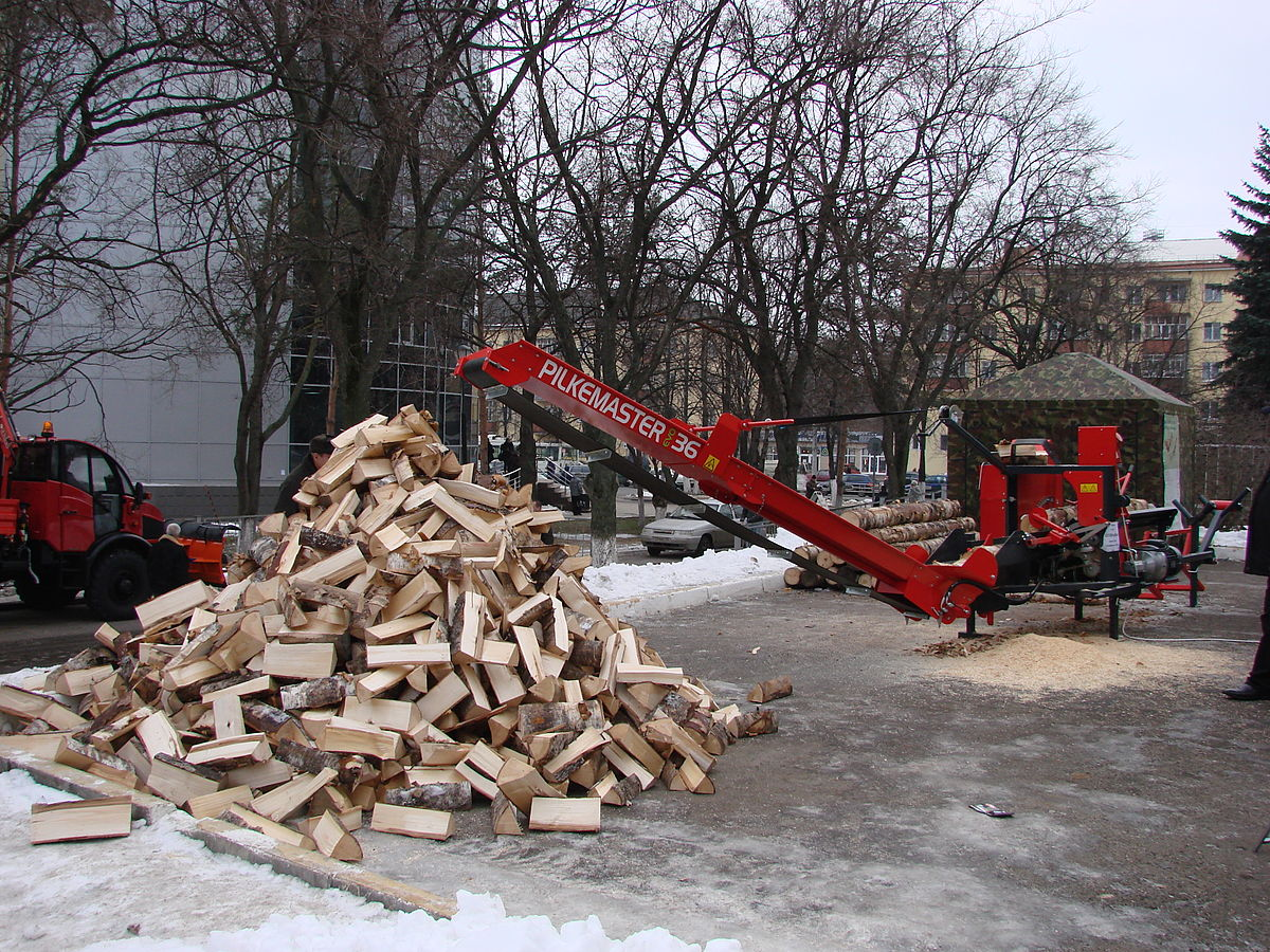 Log Fire Wood ~ Firewood processor wikipedia