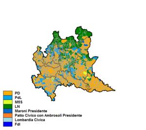 Regione Lombardia Cartina Politica.Elezioni Regionali In Lombardia Del 2013 Wikipedia